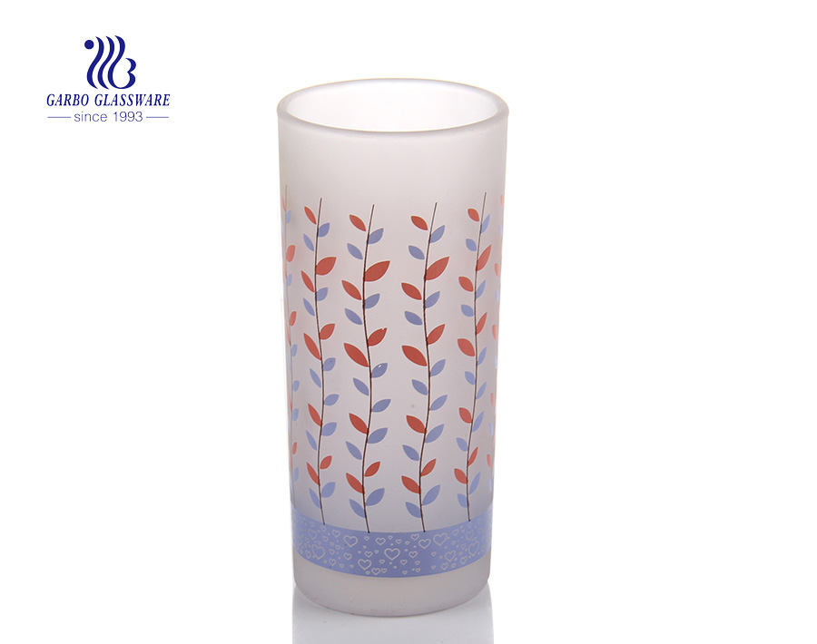 2oz frosted and decals vodka drinking shot glass