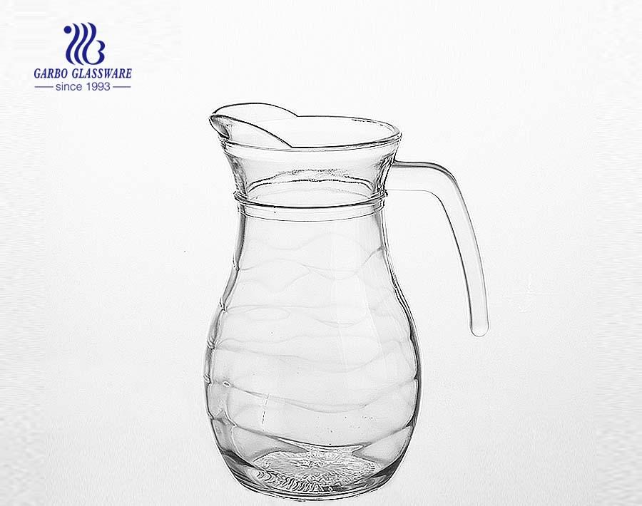 China FOB Chongqing Glass Drinking Pitcher Glass Jug Glass Carafe