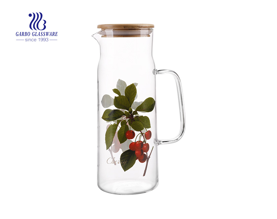 China Guangzhou pyrex glassware factory borosilicate glass pitcher exporting