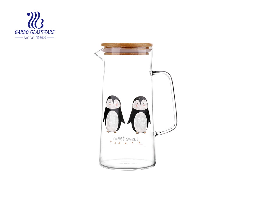 1L borosilicate glass tea jug glass juice pitcher exporting from China