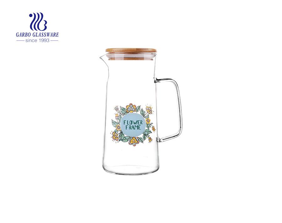 1 l Borosilikatglas-Teekanne Glas-Saftkrug, der aus China exportiert