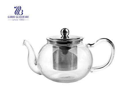 Pyrex glassware heat resistant glass tea pot with 304 steel filter