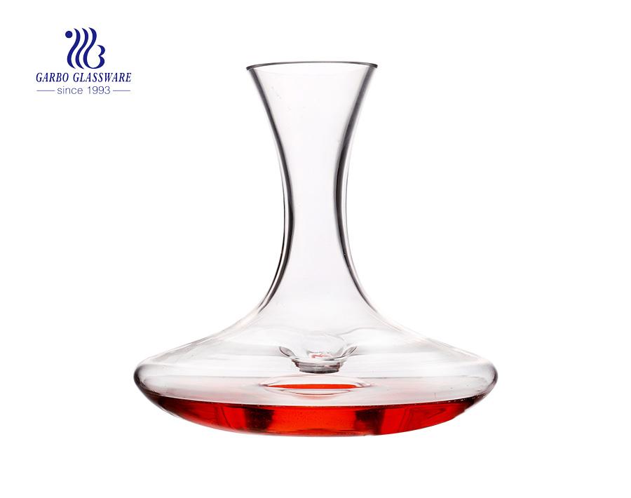 2 لتر المصفق النبيذ الأحمر الزجاجي مع مجموعة علبة هدية مخصصة