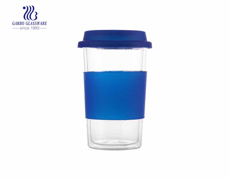 15oz Heat resistant silicone sleeve double wall cup
