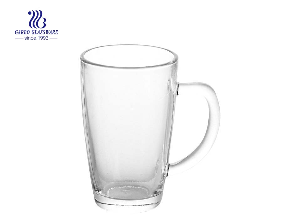 330ml Fancy Shape Glass Tea Mug For Christmas Promotion
