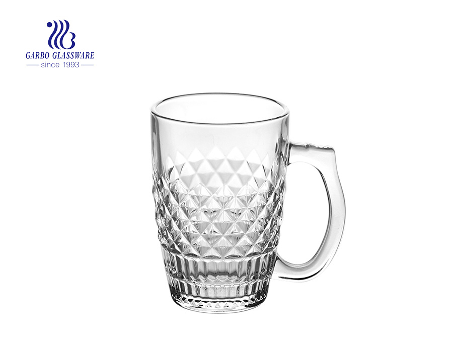 High White Quality 340ml Glass Beer Mug