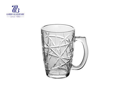 High White Quality 340ml Glass Beer Mug