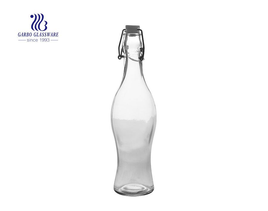 1 Litre Engraved Clear Glass Bottle With Stopper