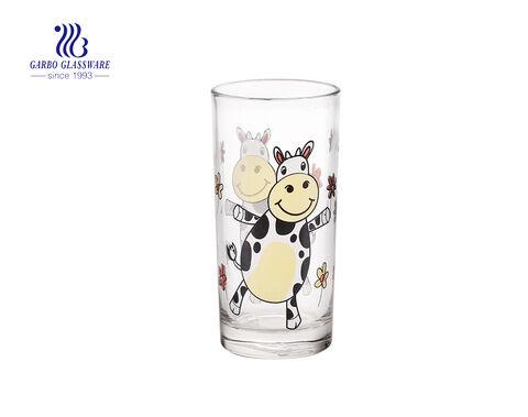 Customize decal 11oz 320ml long thin glass tumbler