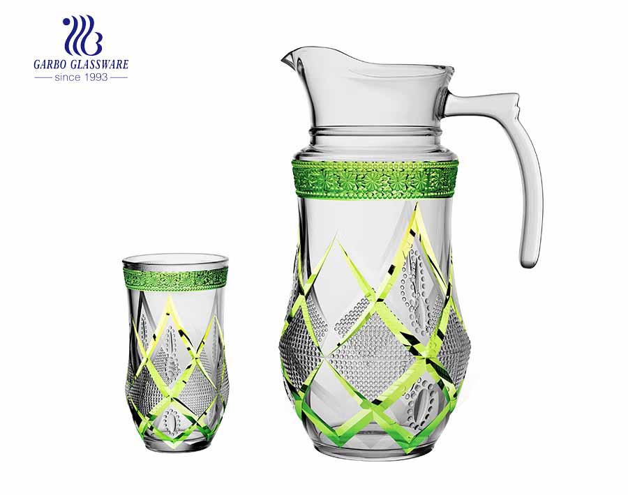 Garbo Glass New Design 7pcs water jug with stemware sets