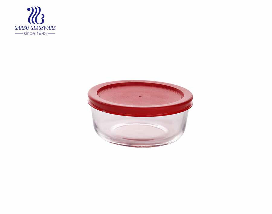 240ml Round heat resistance pyrex round glass food container