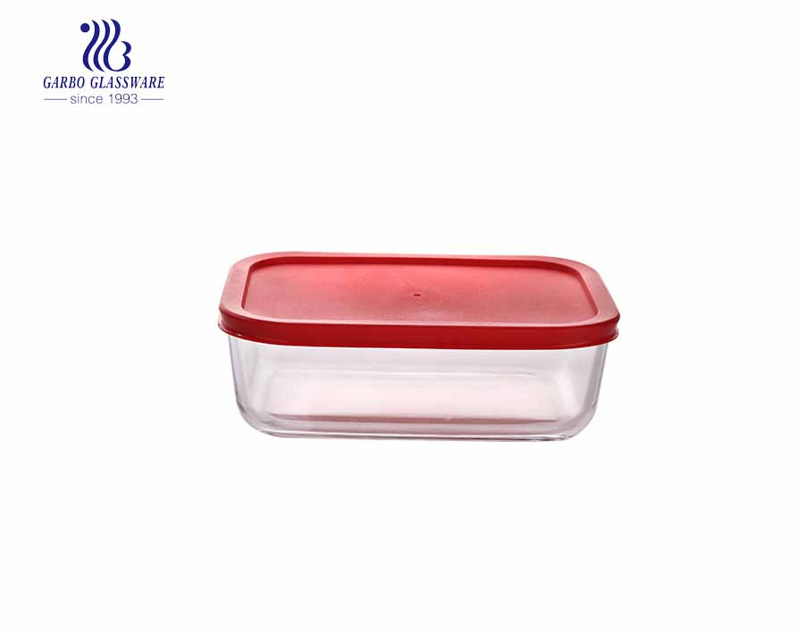 1Liter glass food container rectangle pyrex glass lunch box