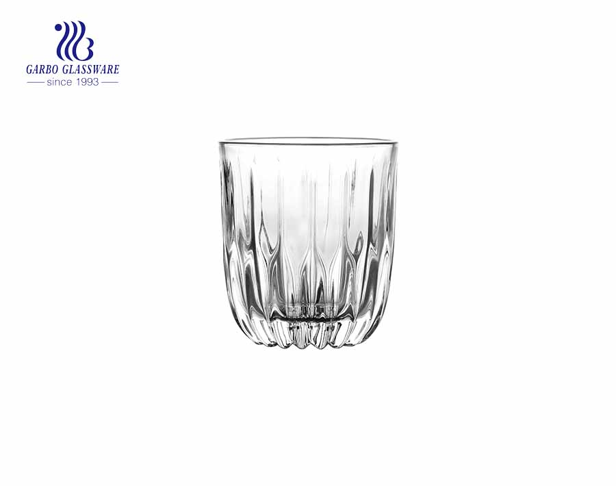 9.75 oz Simple relief glass tumblers juice cold drink cup