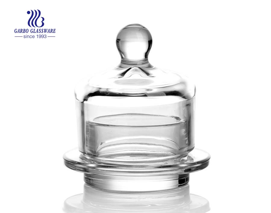 Crystal Clear Gift Box Glass Sugar Jar Glass Candy Box with Lids