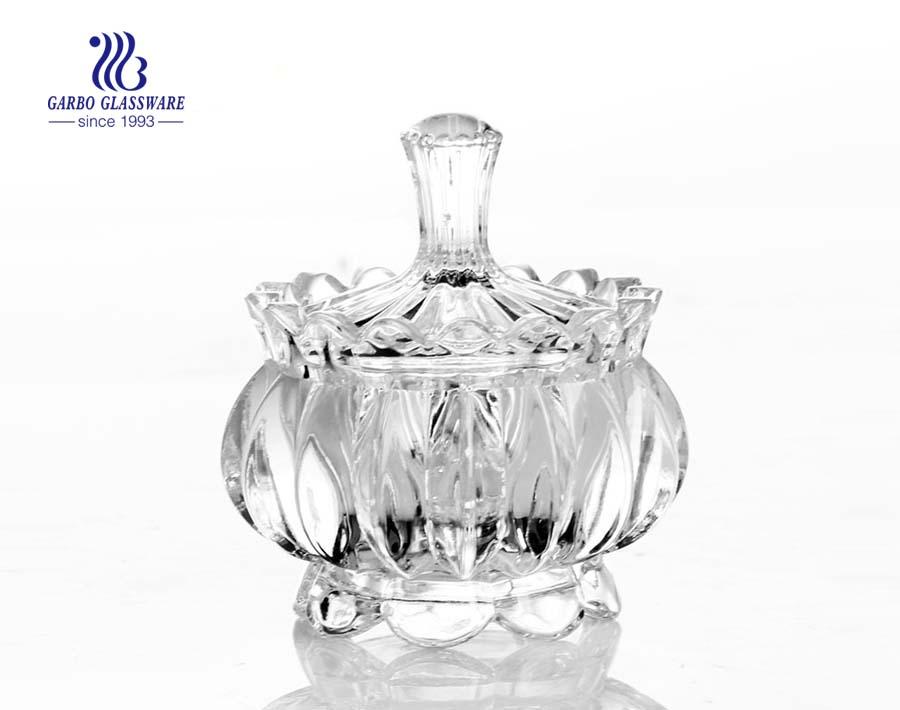 تصميم جديد الجرار الزجاج الزفاف سوان مع غطاء الجرار الزجاج المكسرات