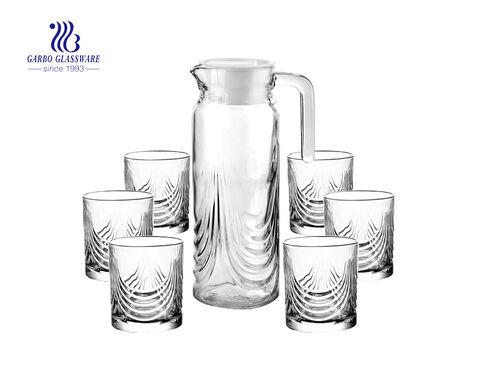 1.9 Liters Ribbed Design Fridge Door Water Dispenser with Handle for Chilled Beverages