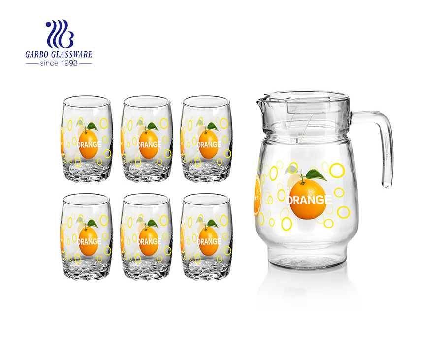 7pcs carafe pitchers with tumbler glass sets
