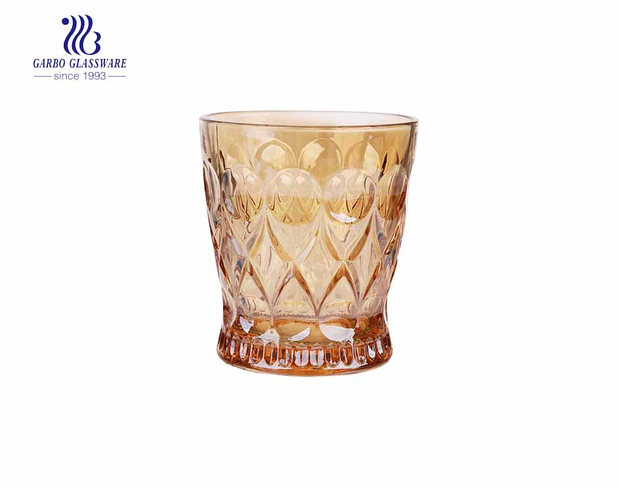 245ML Medieval style angelica electronic plating golden glass juice whiskey cup