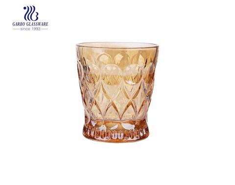 245 ML estilo Medieval angelica chapeamento eletrônico copo de uísque de suco de vidro dourado