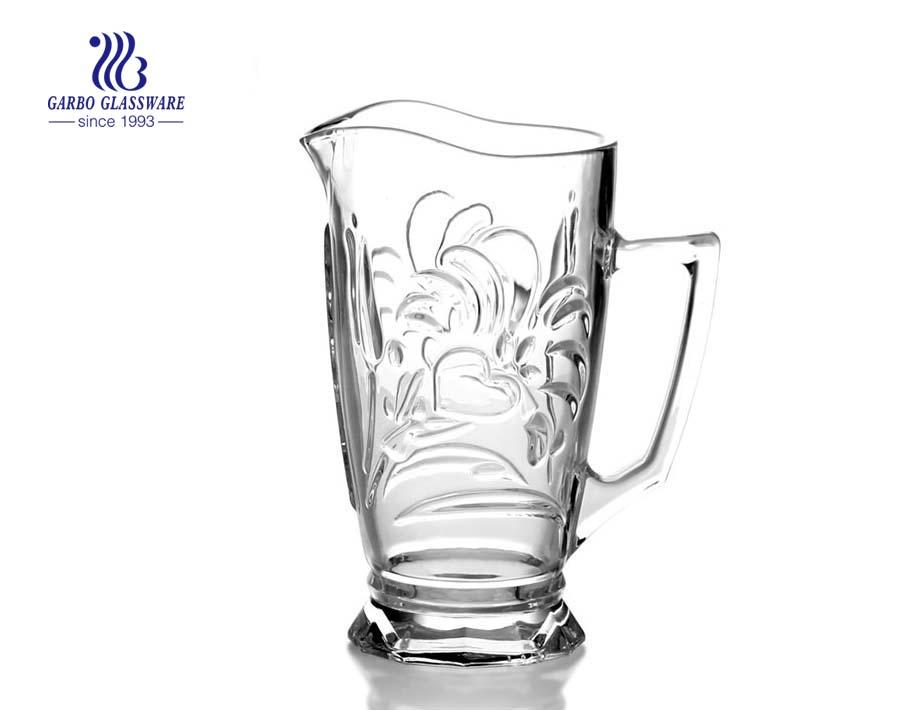 1.2 l gravierte Glaskrug Glaskanne Glaskaraffe