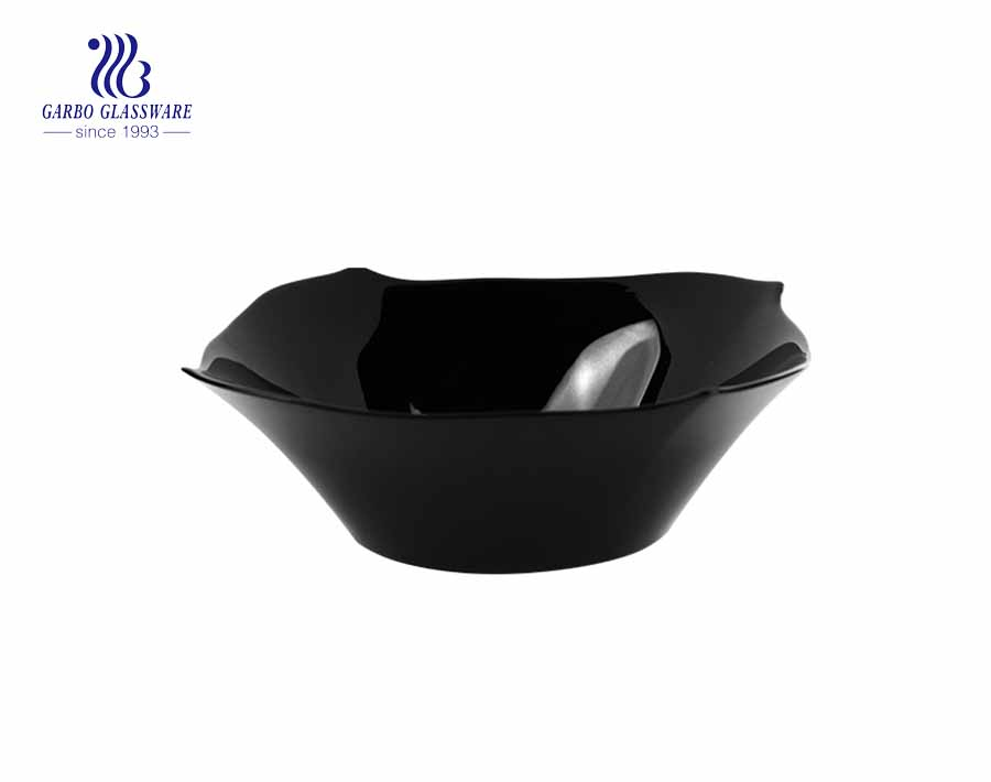 Tempered 1000ml Black  Opal Glass Bowl  On Promotion