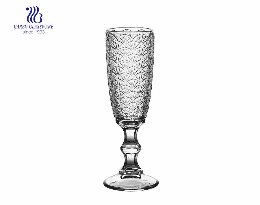 6oz New design flute stemware wine glass with short speakeasy stem