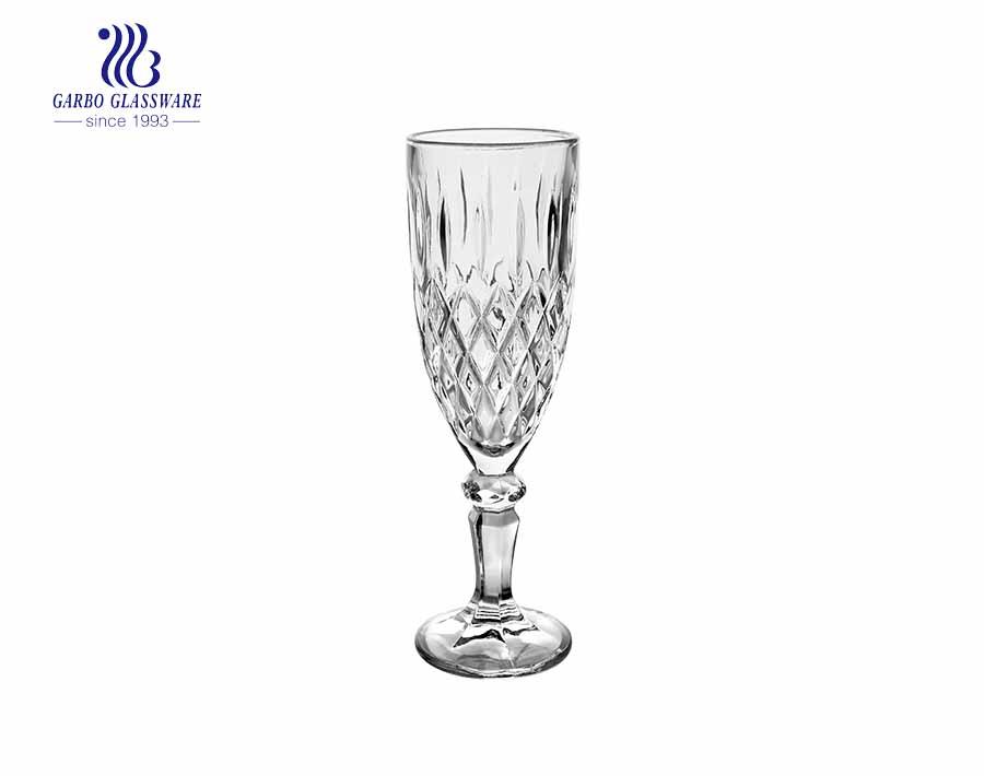 6oz New design flute stemware wine glass with short speakeasy stem