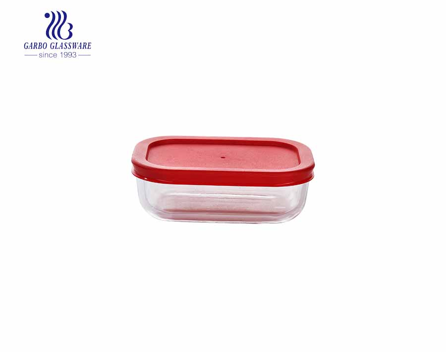 300cc high borosilicate food contianer glass lunch box with PP lid