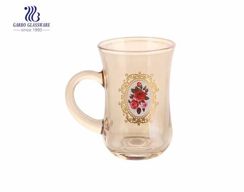 Taza de café de vidrio con baño de iones con diseño personalizado