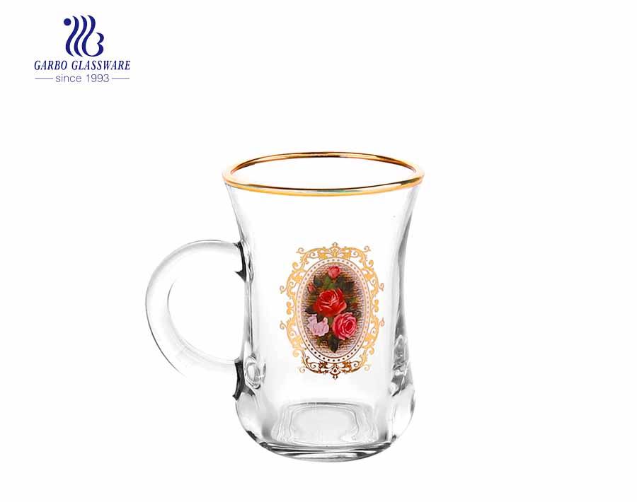 Ion Plated Glass Coffee Mug With Customized Design