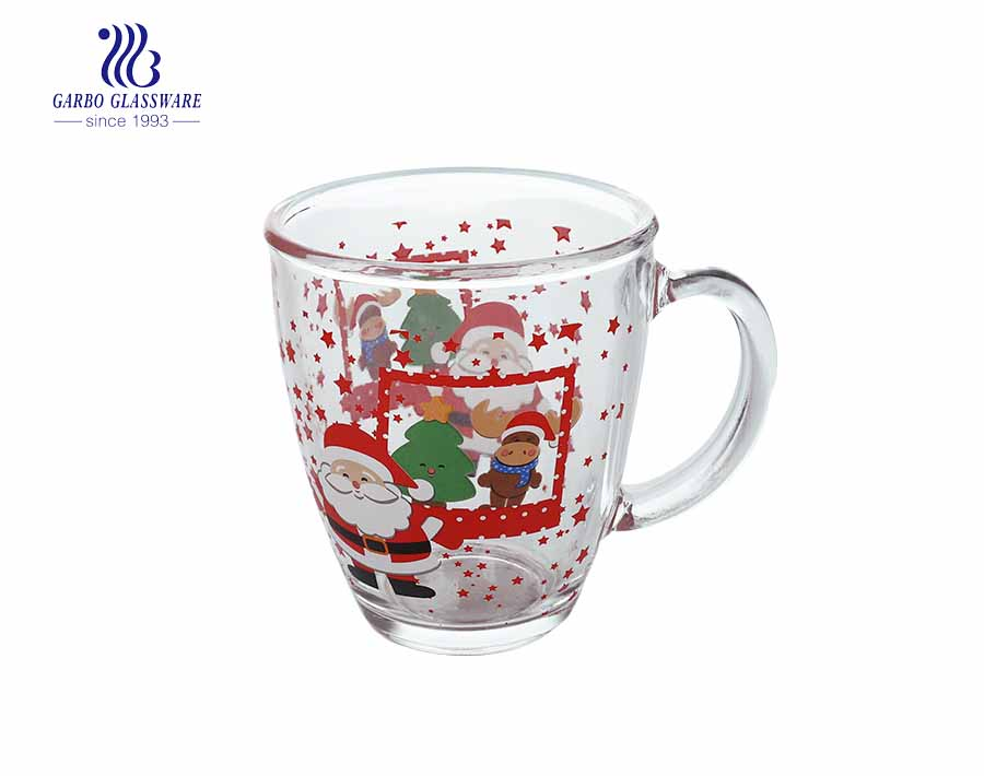 360ML Glass Tea Mug With Customized Design