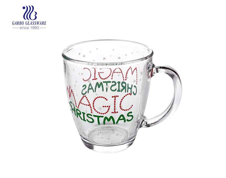 360ML Glass Tea Mug With Customized Design