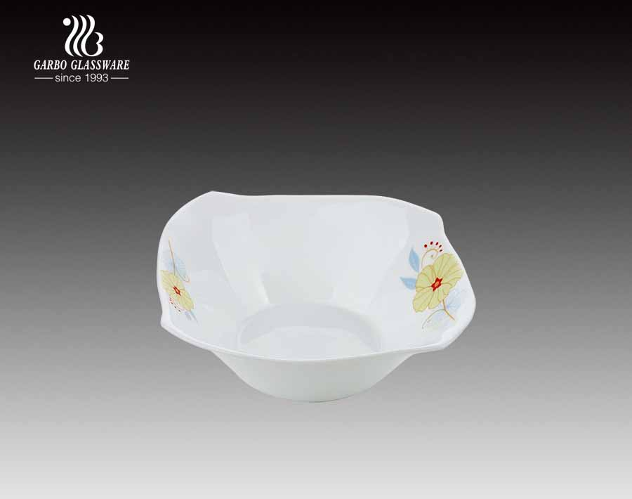 Decal thủy tinh Opal 11 inch Milky Glass Plate