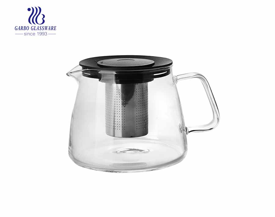 Pyrex  glass teaware 1.2L handmade pyrex glass teapot wholesale