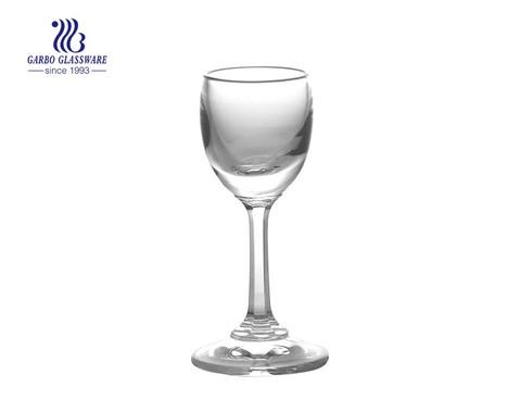 Copo de vinho redondo de pequena capacidade de 20 ml com cálice de conhaque da haste