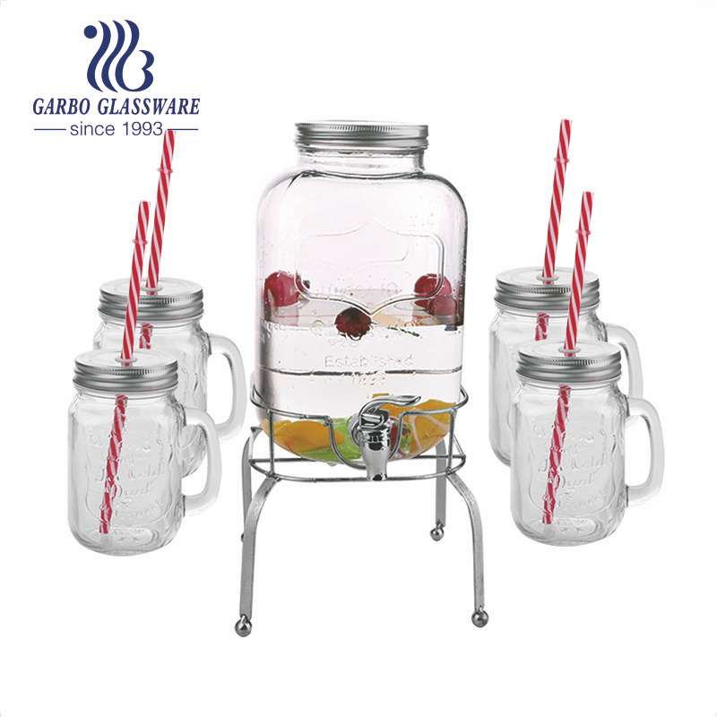 Let's check out the practical glass juice despenser with tap