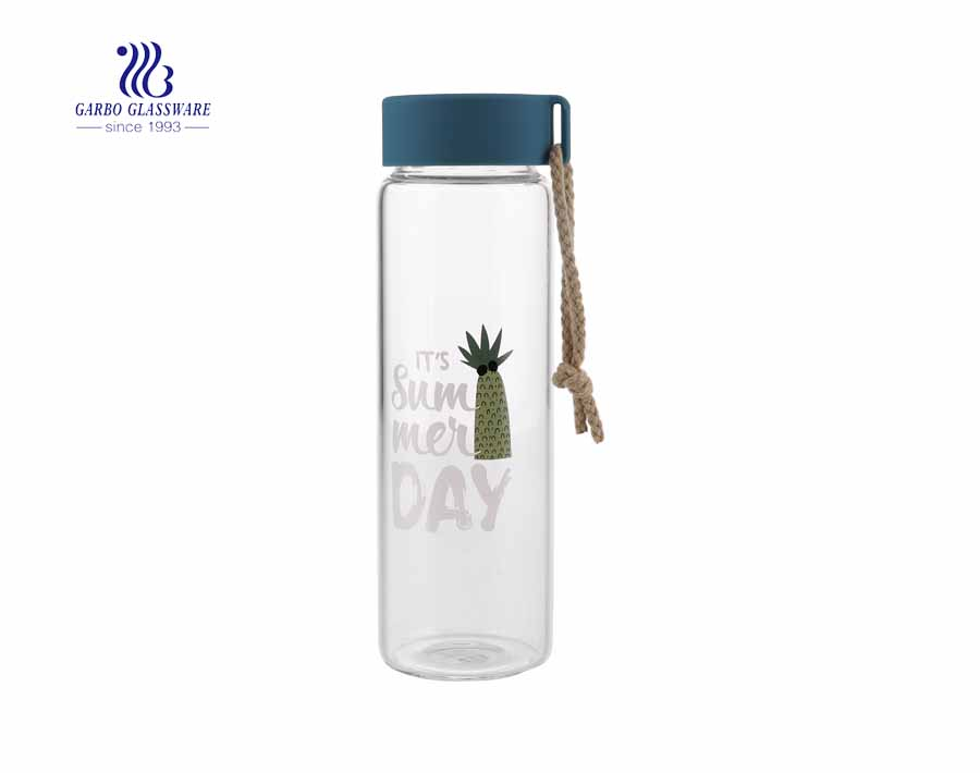 Glass Water Bottle Cold Hot Water Tea Gift Glass Bottle