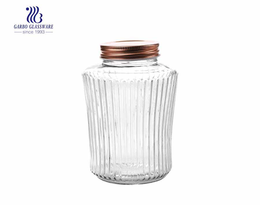 الصين الجملة وظيفة الأسرة استخدام مجموعة جرة تخزين الزجاج الشفاف