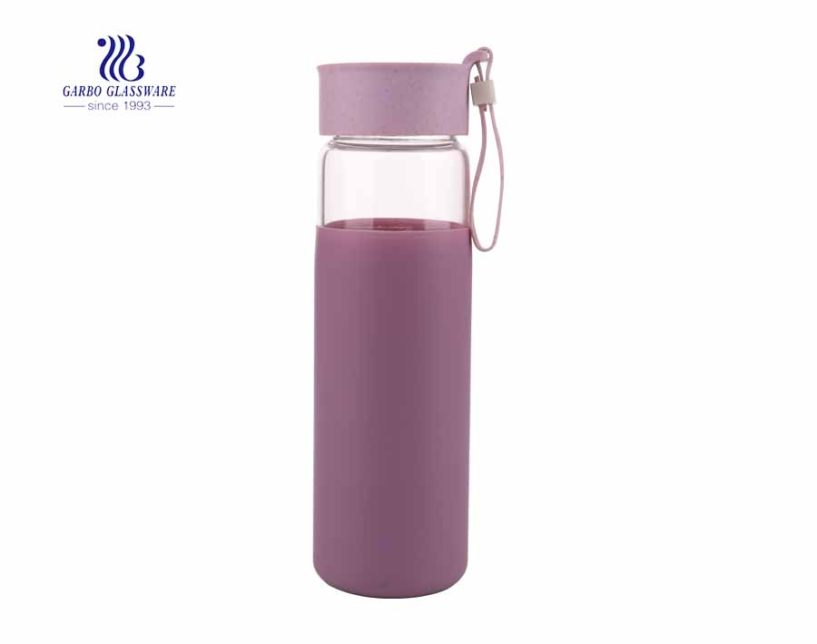 Customized color glass bottle BPA free pyrex glass bottle wholesale