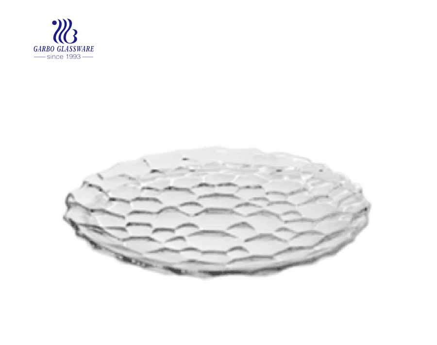 Glass fruit flat plate for cake and pizza