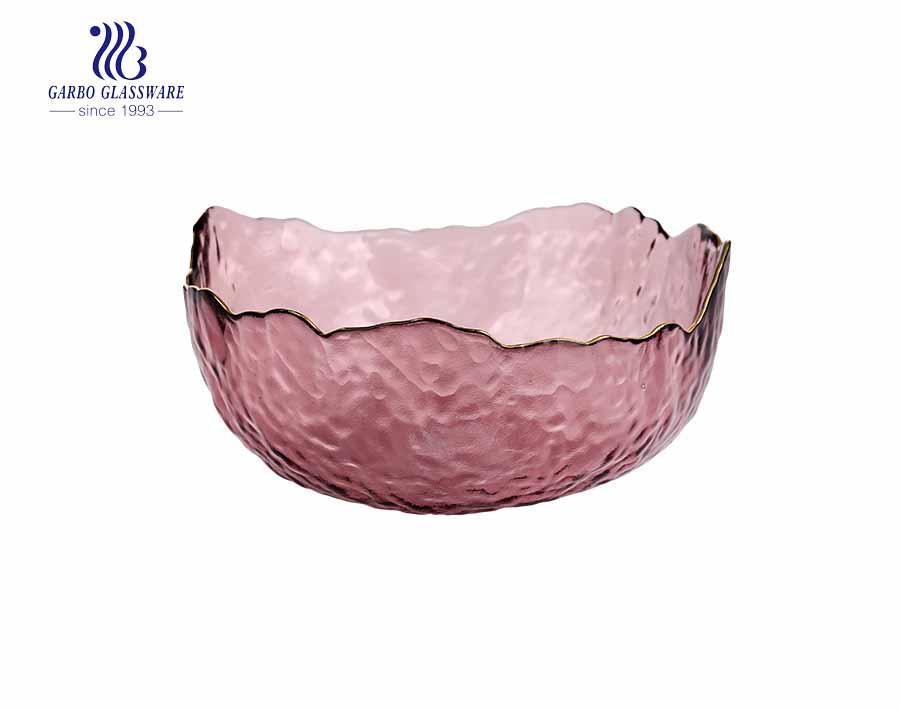 Promotional mail order blue color glass fruit  bowls