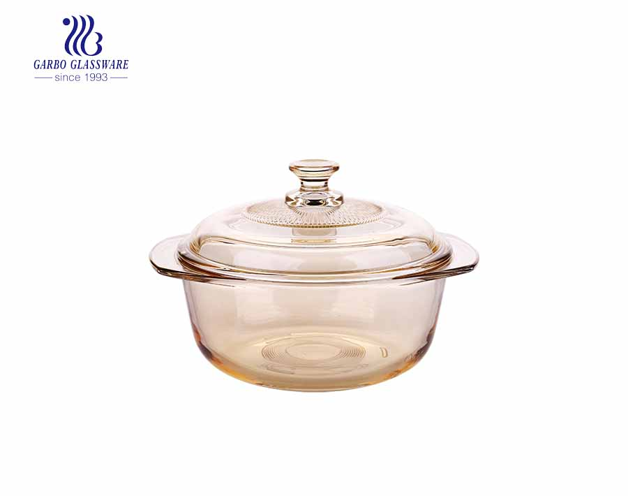 930ML Eledtroplating pyrex glass casserole for mircowave using