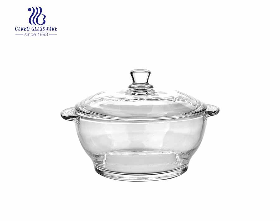 930ML Eledtroplating pyrex glass casserole for mircowave using