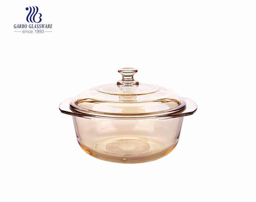 Wholesale 1500ml clear pyrex glass casserole for mircowave using