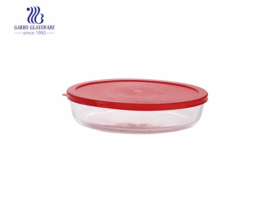 3200ML Borosilicate oval shape pyrex glass baking pan