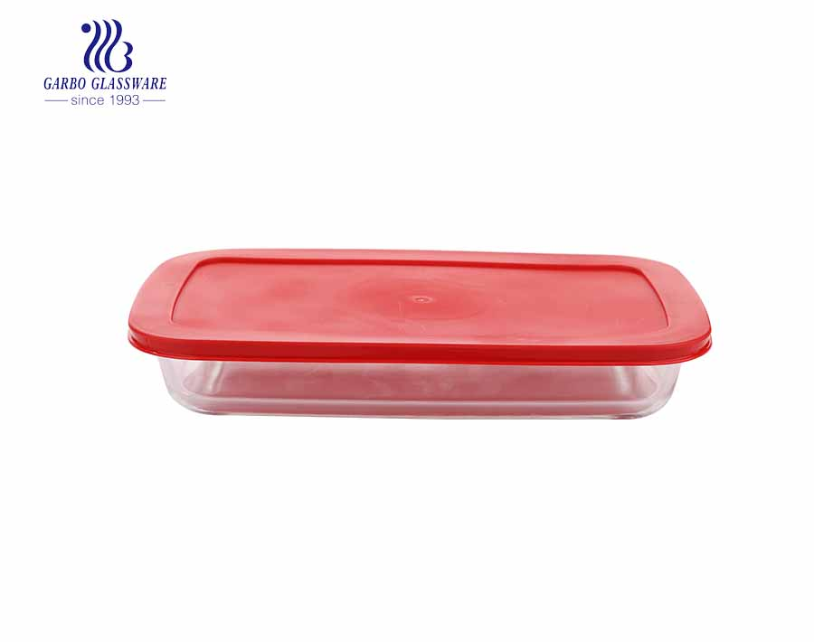2.2L Borosilicate rectangle shape pyrex glass baking pan