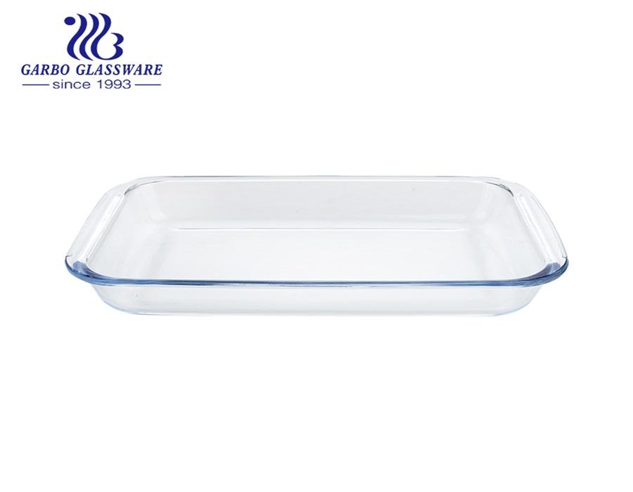 2.2L Borosilicate rectangle shape pyrex glass baking pan