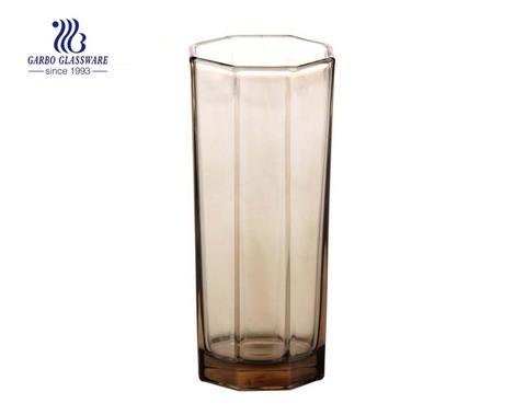 Estilo europeu alimentos seguros contato cor matizada copo de vidro octangle