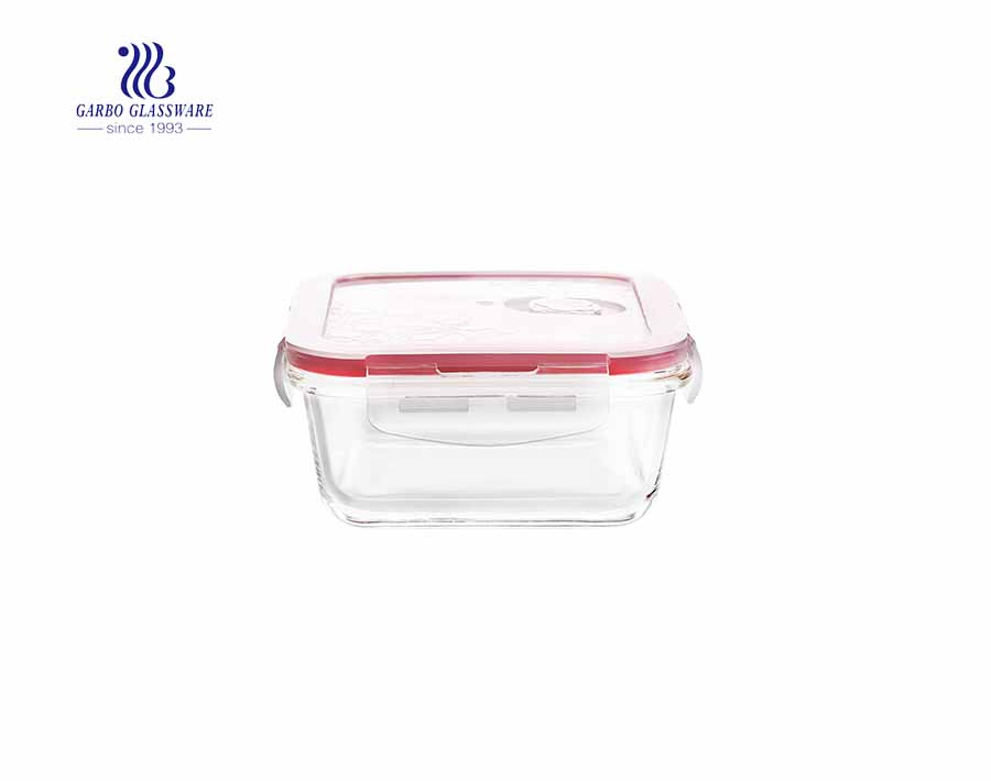 570cc Factory cheap leakproof airtight glass baking lunch box