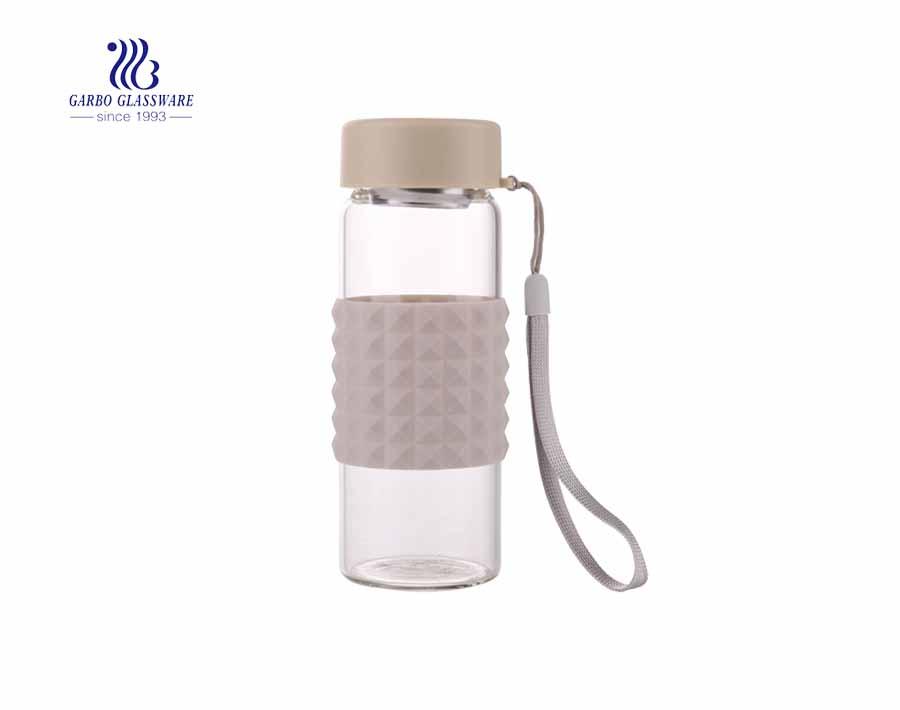 Garbo neues Design Borosilikat Sport 0.5 l Glaswasserflasche